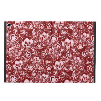 emo skull background case for iPad air