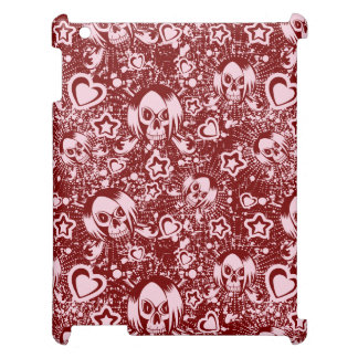emo skull background iPad cases