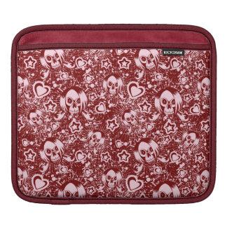emo skull background iPad sleeve