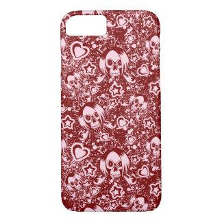 emo skull background iPhone 8/7 case