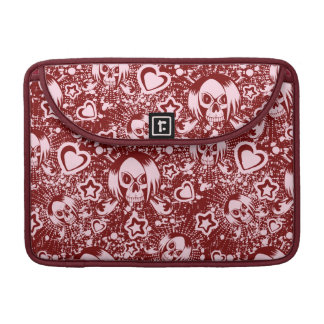 emo skull background sleeve for MacBook pro