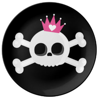 Emo Skull Plate