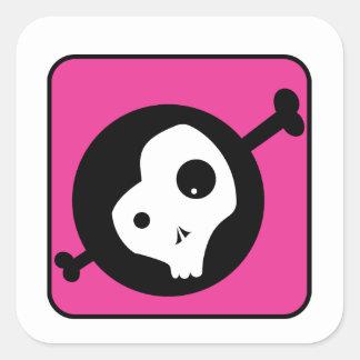 Emo Skull Square Sticker