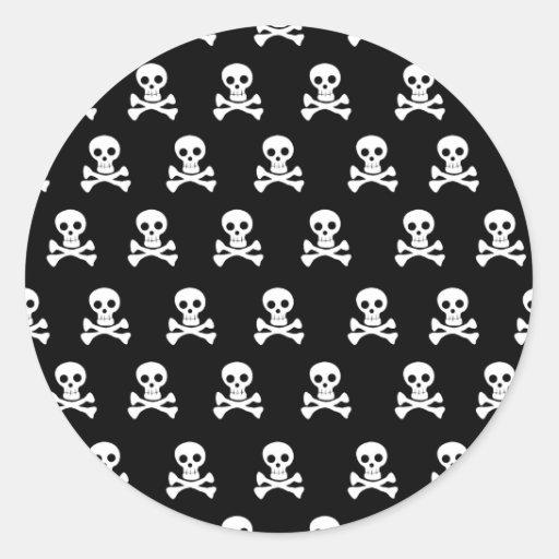 Emo Skulls - Emo Alternative Grunge Rock Punk Round Stickers