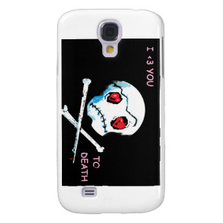 "Emo Skulls & Hearts : ""I love you death"" accessory Samsung Galaxy S4 Cases"