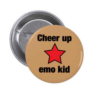 Emo Star 6 Cm Round Badge