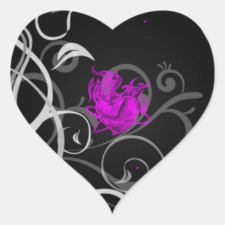 Emo Heart Sticker