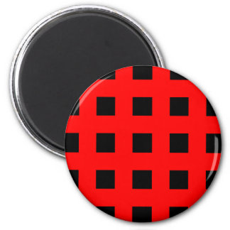 Emo Stripes Red & Black - Alternative Grunge Rock 6 Cm Round Magnet