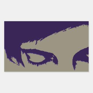 emo style rectangular sticker