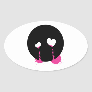 Emo Tears Oval Sticker