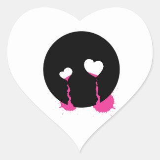 Emo Tears Heart Stickers