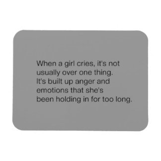 EMO TRUE SADNESS WHEN GIRL CRIES NOT USUALLY OVER RECTANGULAR MAGNET
