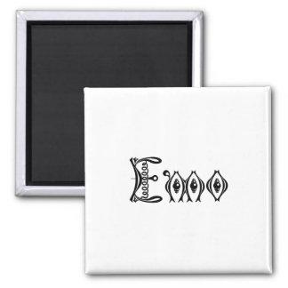 Emo Victorian Punk Script Square Magnet