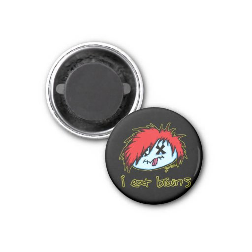 Emo Zombie (on dark backround) Fridge Magnet