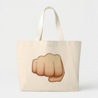 Emoj i- Fist Large Tote Bag