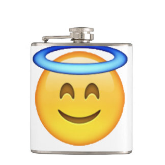 Emoji - Angel Hip Flask