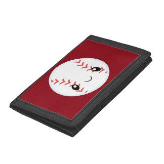 Emoji Baseball Tri-fold Wallets