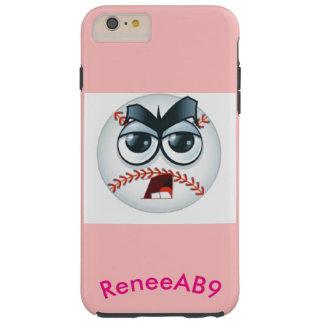 Emoji Baseball Umpire Curve Ball Pink by ReneeAB9 Tough iPhone 6 Plus Case