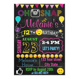 Emoji Birthday invitation card