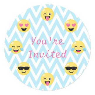Emoji Birthday Party Invite (round w/envelope)