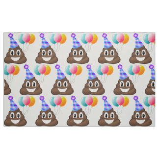 Emoji Birthday Poop Party Fabric