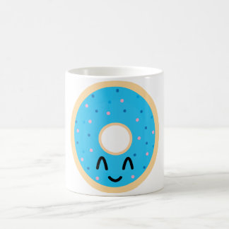 Emoji blue donut mug. coffee mug