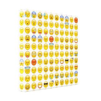 emoji canvas print