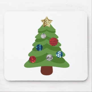 emoji christmas tree mouse pad