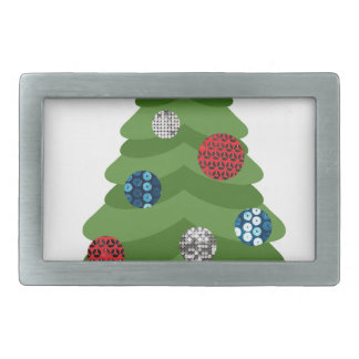 emoji christmas tree rectangular belt buckle