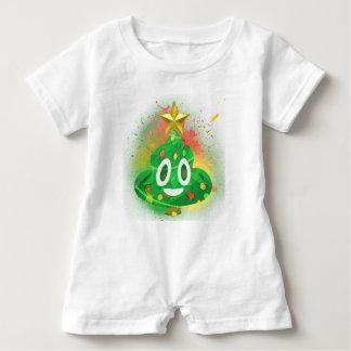 Emoji Christmas Tree Spray Paint Baby Bodysuit