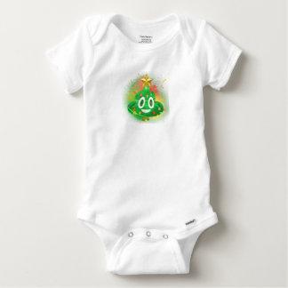 Emoji Christmas Tree Spray Paint Baby Onesie