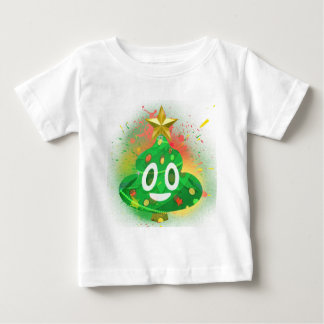 Emoji Christmas Tree Spray Paint Baby T-Shirt