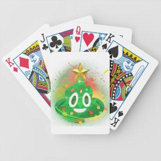 Emoji Christmas Tree Spray Paint Bicycle Playing Cards