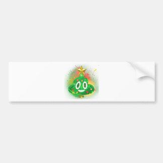 Emoji Christmas Tree Spray Paint Bumper Sticker