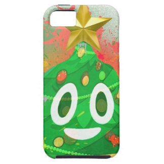 Emoji Christmas Tree Spray Paint iPhone 5 Cases