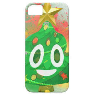 Emoji Christmas Tree Spray Paint iPhone 5 Cover