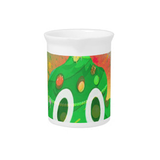 Emoji Christmas Tree Spray Paint Pitcher