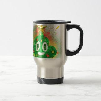 Emoji Christmas Tree Spray Paint Travel Mug