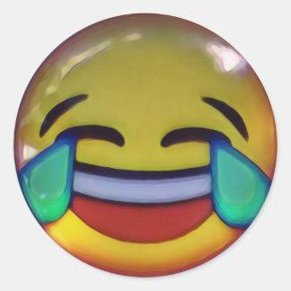 emoji classic round sticker