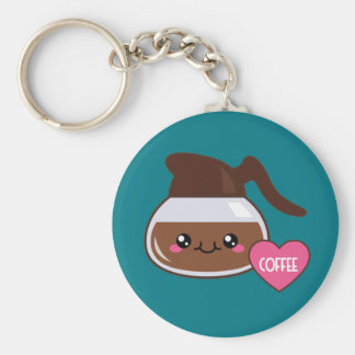 Emoji Coffee Pot Key Ring