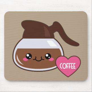 Emoji Coffee Pot Mouse Pad