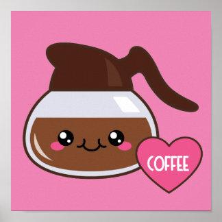 Emoji Coffee Pot Poster