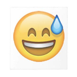 Emoji - Cold Sweat Notepad