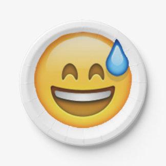 Emoji - Cold Sweat Paper Plate