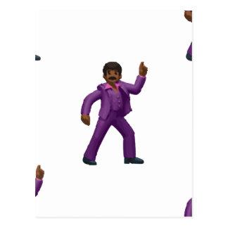 Emoji Dancing Man Postcard