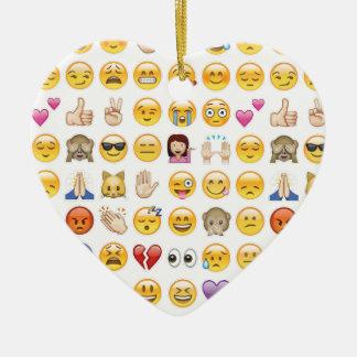 emoji ceramic heart ornament