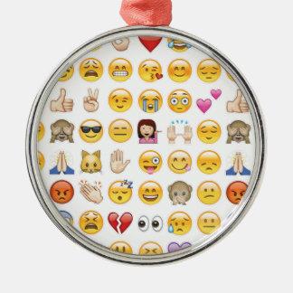 emoji Silver-Colored round ornament