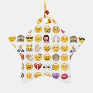 emoji ceramic star ornament
