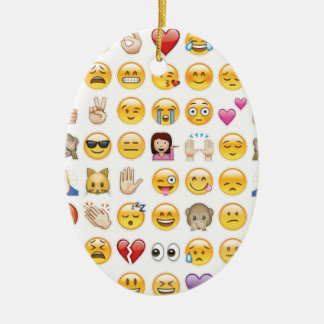 emoji ceramic oval ornament
