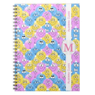 Emoji Design Funny Pastel Faces Notebook